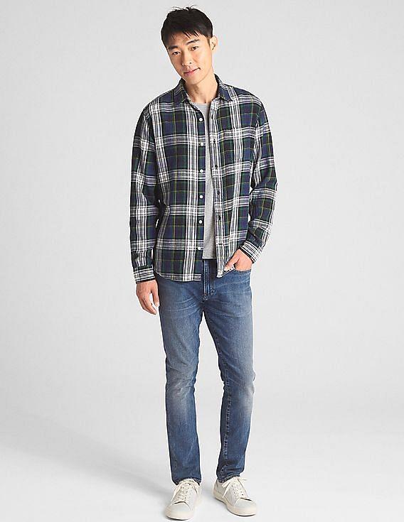 Gap Men Slub Cotton Twill Shirt