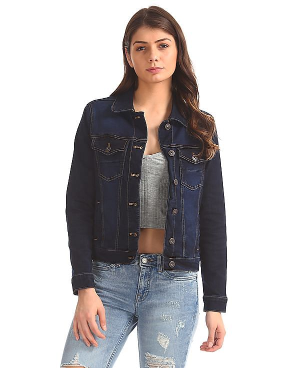 aeropostale women regular fit denim jacket
