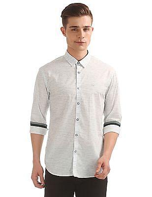Flying Machine Binary Print Slim Fit Shirt