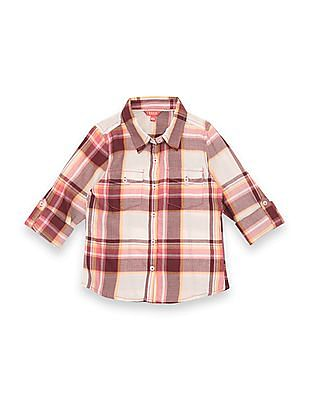 Elle Kids Girls Regular Fit Check Shirt