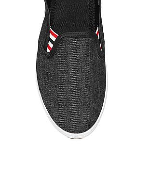 Colt Striped Gusset Canvas Slip On Shoes