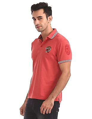 Ed Hardy Slim Fit Tipped Polo Shirt