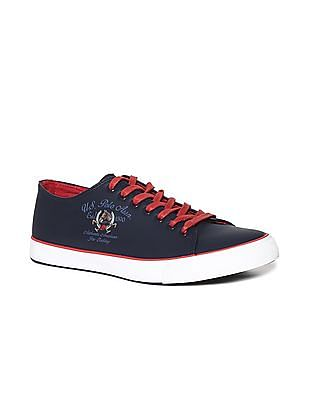 U.S. Polo Assn. Blue Contrast Sole Lace Up Sneakers