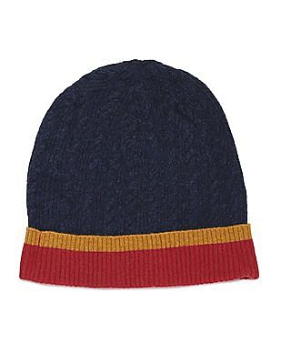 U.S. Polo Assn. Cable Knit Lambswool Beanie