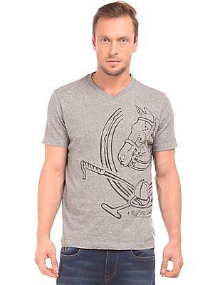 U.S. Polo Assn. Denim Co. Graphic Print V-Neck T-Shirt