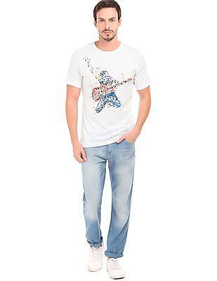 Colt Round Neck Splatter Print T-Shirt