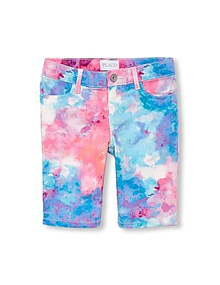 The Children's Place Girls Tie-Dye Woven Skimmer Shorts
