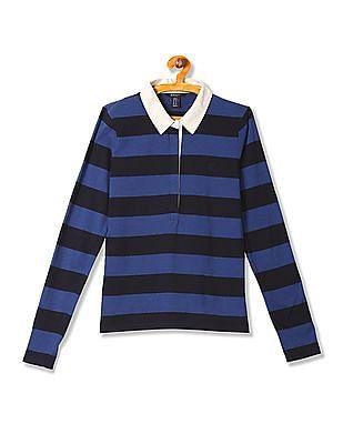Gant Striped Cotton Polo Shirt
