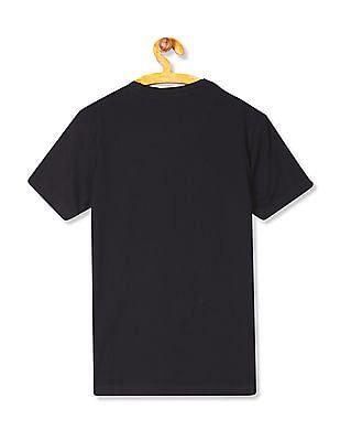 U.S. Polo Assn. Kids Boys Crew Neck Sequin Embellished T-Shirt
