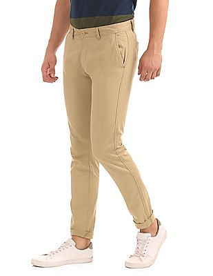 Ruggers Modern Fit Solid Trousers