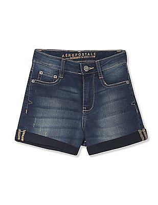Aeropostale Stone Wash Denim Shorts