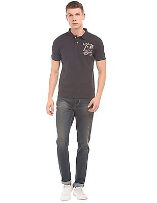 U.S. Polo Assn. Denim Co. Slim Fit Washed Jeans