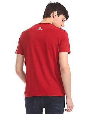 U.S. Polo Assn. Denim Co. Red Crew Neck Graphic T-Shirt