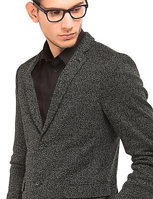 Arrow Newyork Textured Single Breasted Blazer