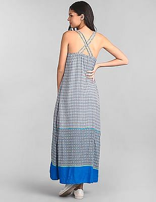 GAP Double-Strap Print Maxi Dress