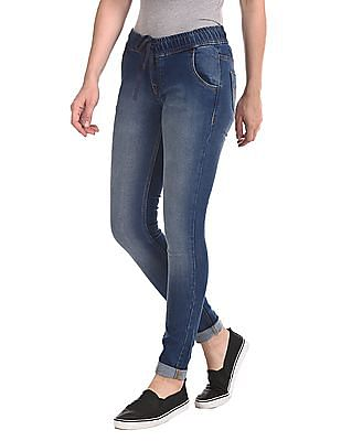 Flying Machine Women Twiggy Super Skinny Fit Elasticized Waist Jeans