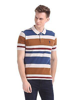 U.S. Polo Assn. Cotton Stripe Polo Shirt