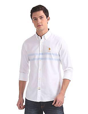 U.S. Polo Assn. Tailored Regular Fit Stripe Chest Shirt