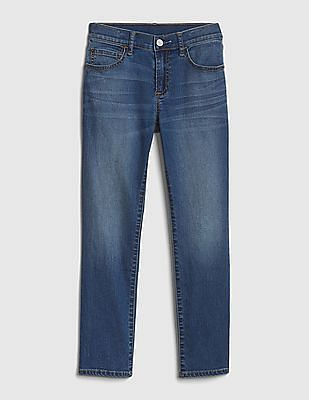GAP Blue Boys Superdenim Lightweight Slim Jeans