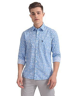 U.S. Polo Assn. Regular Fit Floral Print Shirt