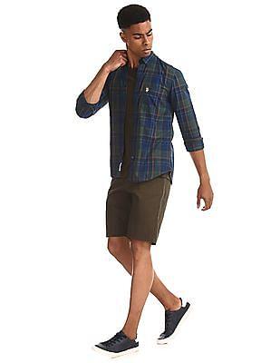 U.S. Polo Assn. Green Button Down Collar Check Shirt