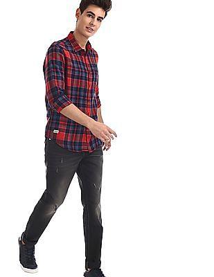 Ed Hardy Black Stone Wash Distressed Jeans