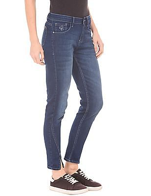 Flying Machine Women Skinny Fit Cropped Jeans