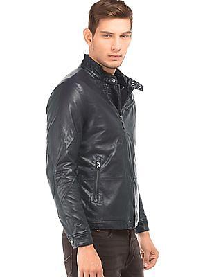 U.S. Polo Assn. Solid Panelled Biker Jacket