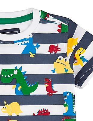 Cherokee Boys Dinosaur Print Cotton T-Shirt