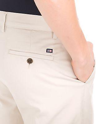 Arrow Sports Flat Front Regular Fit Trousers