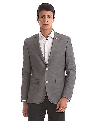 USPA Tailored Slim Fit Solid Blazer