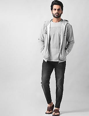 True Blue Slim Fit Heathered Sweatshirt