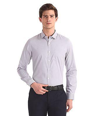 Excalibur Grey Patch Pocket Striped Shirt