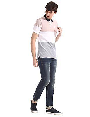 Arrow Sports Multi Colour Cotton Pique Polo Shirt