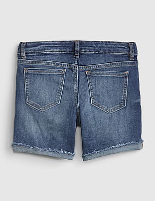 GAP Girls Embroidered Patch Midi Shorts