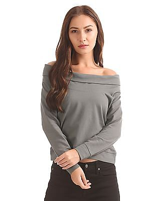 Elle Off-Shoulder French Terry Top