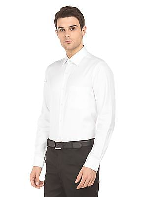 Arrow Long Sleeved Herringbone Shirt