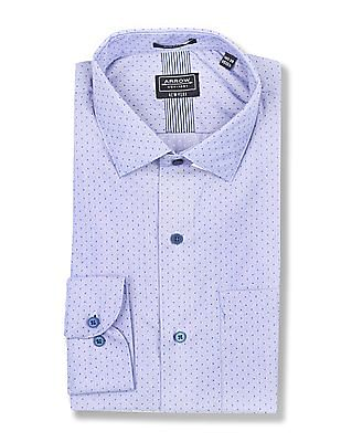 Arrow Newyork Slim Fits Me Patterned Weave Shirt