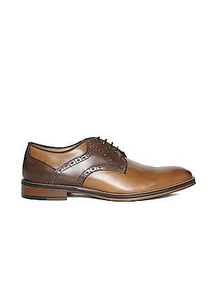 Johnston & Murphy Brogued Leather Derby Shoes