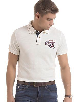 U.S. Polo Assn. Denim Co. Printed Collar Cotton Polo Shirt