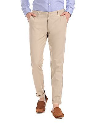 Roots by Ruggers Flat Front Solid Trousers