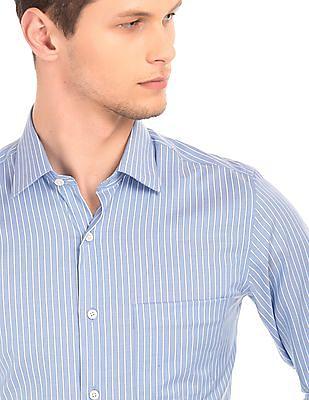 Arrow Striped Cotton Shirt