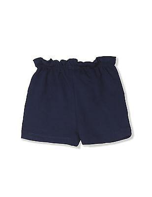 Donuts Blue Girls Ruffle Waist Knit Shorts