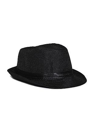 Day 2 Day Black Boys Solid Fedora Hat