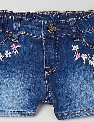 GAP Toddler Girl Embroidered Shorts