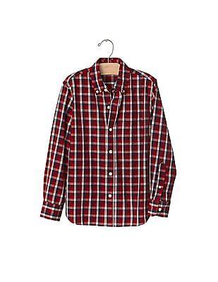 GAP Boys Plaid Button Down Shirt