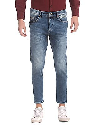 Flying Machine Tapered Fit Cropped Jeans