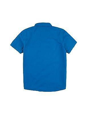 Cherokee Boys Short Sleeve Striped Shirt
