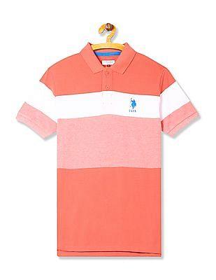 U.S. Polo Assn. Kids Boys Colour Block Polo Shirt