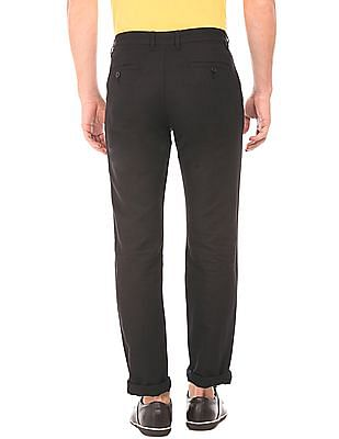 Izod Slim Fit Cotton Linen Trousers